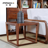朴睿(prich)6简约北欧方几实木茶几玻璃方几客厅多功能角几黑胡桃木家具